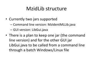 MzidLib  structure