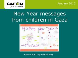 New Year messages from children in Gaza