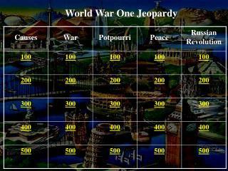 World War One Jeopardy