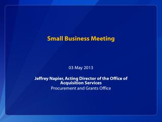 Small Business Meeting