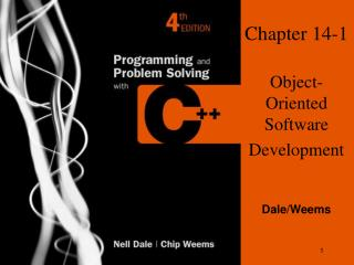 Chapter 14-1 Object-Oriented Software Development
