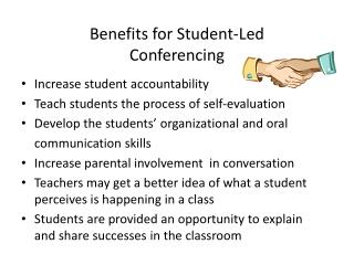 Benefits for Student-Led Conferencing