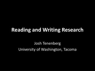 Reading and Writing Research