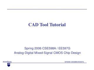 CAD Tool Tutorial