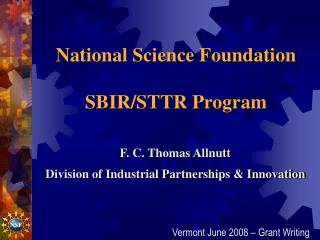 National Science Foundation SBIR/STTR Program