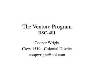 The Venture Program