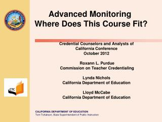 Advanced Monitoring  Where Does This Course Fit?