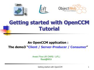 Getting started with OpenCCM Tutorial