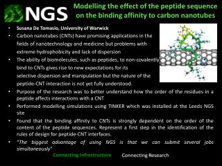 Modelling  the effect of the peptide sequence on the binding affinity to carbon nanotubes