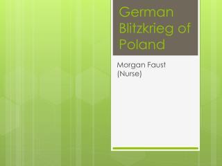 German Blitzkrieg of Poland