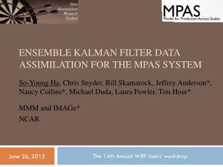 Ensemble  Kalman  filter data assimilation for the MPAS system