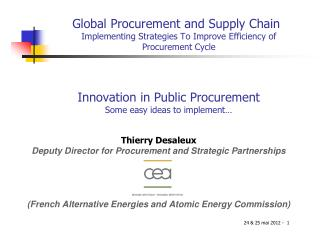 Global  Procurement  and  Supply  Chain