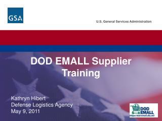 DOD EMALL Supplier Training
