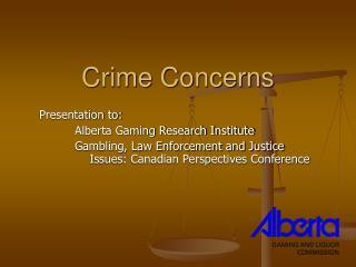 Crime Concerns