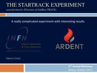 THE STARTRACK EXPERIMENT nanodosimetric ST ructure of  h A d R on  TRACK s