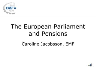 The European Parliament and Pensions