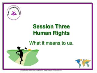 Session Three Human Rights What it means to us.