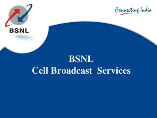 BSNL  Cell Broadcast  Services