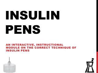 Insulin Pens