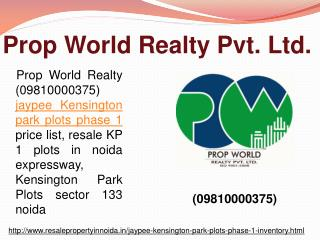 Jaypee Kensington Park Plots Resale, Inventory, Noida sector