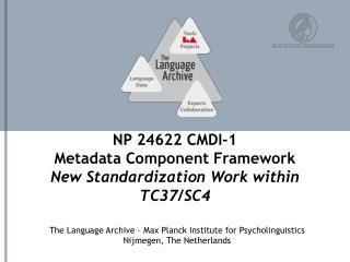 NP 24622  CMDI-1 Metadata Component Framework New Standardization Work within TC37/SC4