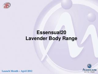 Essensual20 Lavender Body Range