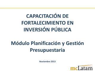 Planificación  Operativa (POA  / PAC / Metas físicas)