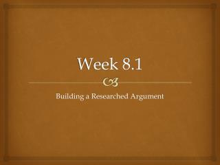 Week 8.1