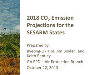 2018 CO 2  Emission Projections for the SESARM States