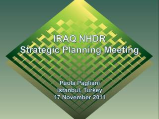 IRAQ NHDR Strategic Planning Meeting