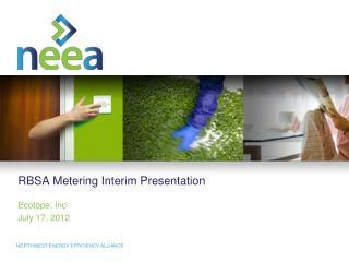 RBSA Metering Interim Presentation