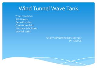 Wind  Tunnel  Wave  Tank
