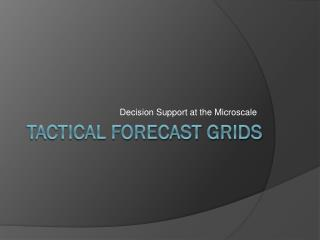 Tactical Forecast Grids