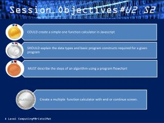 Session Objectives #U2 S2