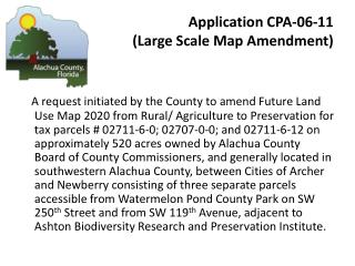 Application CPA-06-11  (Large Scale Map Amendment)