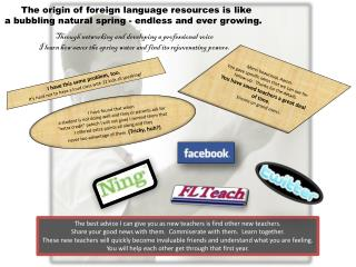 The origin of foreign language resources is  like