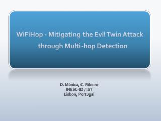 WiFiHop - Mitigating the Evil Twin Attack through Multi-hop Detection