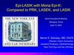 Epi-LASIK with Moria Epi-K:  Compared to PRK, LASEK, and LASIK