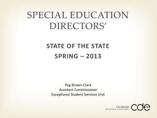 SPECIAL EDUCATION DIRECTORS�