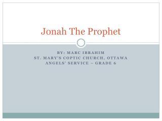 Jonah The Prophet