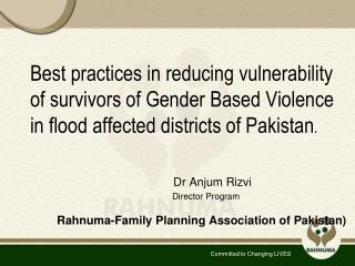 Rahnuma-Family Planning Association of Pakistan)