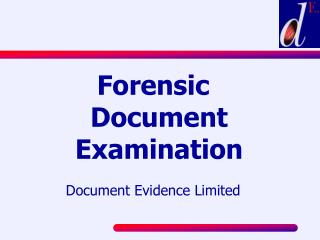 Forensic Document Examination  Document Evidence Limited