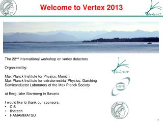 Welcome to Vertex 2013