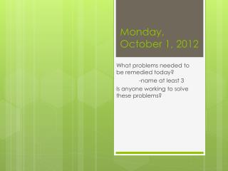 Monday, October 1, 2012