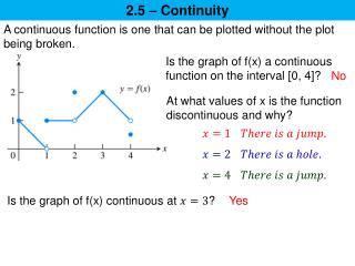 2.5 – Continuity
