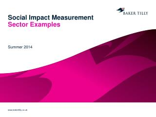 Social Impact Measurement Sector Examples