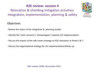 R2E review, CERN, November 2011