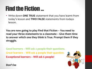 Find the Fiction �
