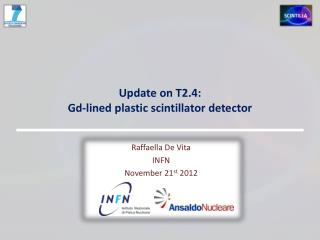 Update on T2.4:  Gd-lined plastic scintillator detector