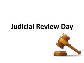 Judicial Review Day